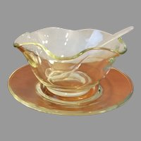 Indiana Clear Crystal Mayonnaise Serving Set 2129 - 3 Pieces Mint Original Box