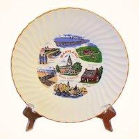 Maryland Souvenir Plate America in Miniature