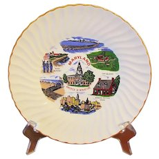 Maryland Souvenir Plate America in Miniature