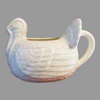 Turkey Gravy Boat or Cream Pitcher All White