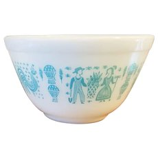 Pyrex Butterprint Turquoise Mixing Bowl 401 1.5 Pints