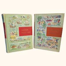 Through Golden Windows Childrens Hardback Books 2 Volumes