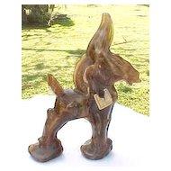 Caramel Slag Wild Jack Donkey figurine Imperial Glass