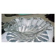 Crystal Fruit Bowl Columbia Pattern Heisey Glass