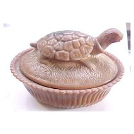 Chocolate Turtle Covered Dish 1996 NMGCS Commemorative
