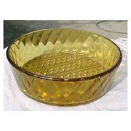 EAPG Amber Fine Diamond Cut Amber Bowl