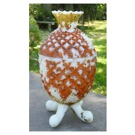 Milk Glass Pineapple Covered Dish Vallerysthal 1880's