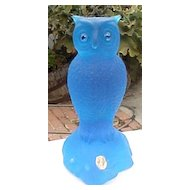 Blue Mist Westmoreland Pound Owl Figural