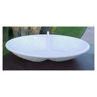 Milk Glass Saloon Tray Double Basket Atterbury 1880's