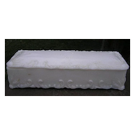 Milk Glass Glove Box Dithridge 1910 Victorian