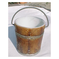 Milk Glass Old Oaken Bucket 1890's Westmoreland Specialty
