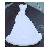 Milk Glass Gloved Hand Fan Tray Atterbury 1889