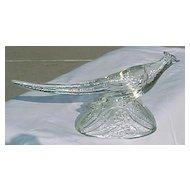 Crystal Ringneck Pheasant Figurine KR. Haley Glass 1947