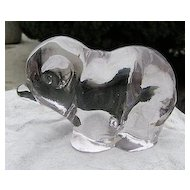 Crystal Lavender Baby Bear Figurine New Martinsville