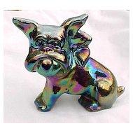 Amethyst Carnival Bulldog Dog #2 Parlor Pup Imperial