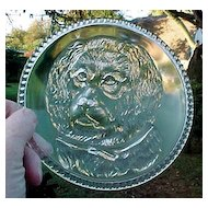 Newfoundland Dog Plate Findlay Glass 1887