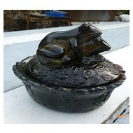 Caramel Slag 2 Leap Frogs Covered Dish