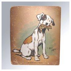 RARE Dog Original Art Watercolor by Cecil Aldin, Charles Windsor Spaniel Painting, Original Illustration Artwork, Signed Artwork