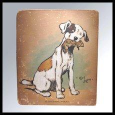 RARE Original Art Watercolor by Cecil Aldin Charles Windsor Spaniel Painting - Original Illustration Artwork