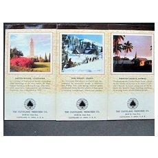 Vintage Advertising Calendars with US Scenes