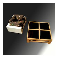 Fisher-Price doll house MOD Coffee Table and Chair