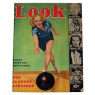 Look Magazine 1939 Eleanor Holm Cover / Vintage Periodical / Vintage Magazine 1930s / Gossip Magazine / Photographic Magazine
