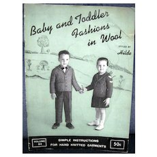 Baby And Toddler Fashions in Wool -- 1957