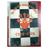 Mrs. William Vaughn Moody's Cook-Book - 1931 First Edition