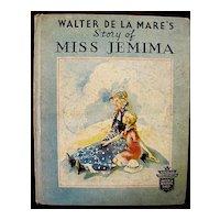 Story Of Miss Jemima - Walter De La Mare 1935