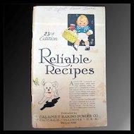 Reliable Recipes - Calumet Baking Powder Co. 1926