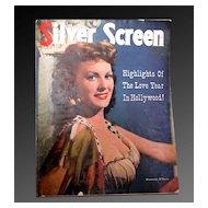 Silver Screen - Vintage Magazine 1950 Elizabeth Taylor