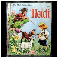 Vintage Little Golden Book - Heidi