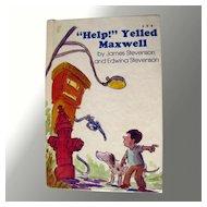 Help Yelled Maxwell Vintage Childrens Book