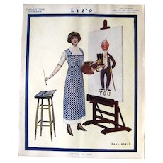 Life Magazine February 12 1914 Paul Goold Cover, Collectible Magazines, Antique Magazine