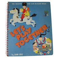 Lets Play Together Puzzle Book / Rare Book / Gift Book / World Stories / Folklore / Puzzle Game / 1940s Book