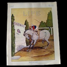 Vintage Life Magazine A D Blashfield Cover February 26 1914 / Turn of The Century Magazine / Vogue Pattern Advertising / Vintage Advertising
