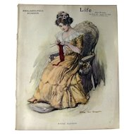 Vintage Life Magazine William Van Dresser Cover January 25 1912 / Turn of The Century Magazine / Vintage Advertising