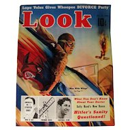 Look Magazine 1938 Men With Wings Airplane Cover / Vintage Periodical / Vintage Magazine 1930s / Gossip Magazine / Photographic Magazine