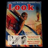 Look Magazine 1938 Men With Wings Airplane Cover / Vintage Periodical / Vintage Magazine 1930s / Gossip Magazine / Photographic Magazine