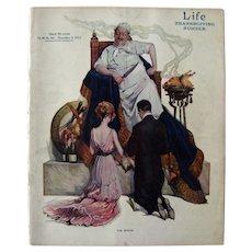 Vintage Life Magazine Paul Stahr Cover November 1912 / Turn of The Century Magazine / Vintage Advertising / Thanksgiving