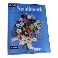 McCalls Needlework Magazine Spring Summer 1955 / Knitting / Crochet / Home Arts / Craft / Pattern Book / Vintage Advertising