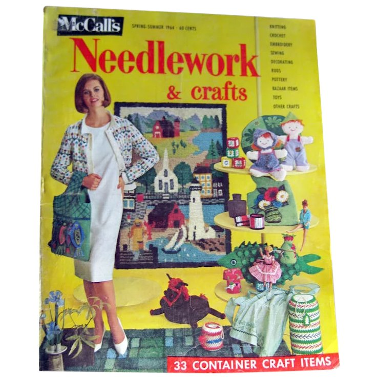 Mccalls Needlework Magazine Spring Summer 1964 Knitting Crochet