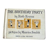 The Birthday Party Vintage Childrens Book / Maurice Sendak Illustration