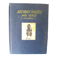 Midway Photos and Verse World War 2 Photography Book First Edition / 1940s History Book / Gift Book / Bird Book