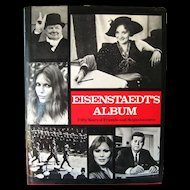 Eisenstaedts Album Vintage Celebrity Photography Book - Alfred Eisenstaedt / Oversize Vintage Book 1970s / Coffee Table Book / First Edition Book / Gift Book