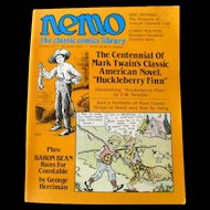 Nemo Classic Comics Library Vintage Magazine Huckleberry Finn Edition Number 16 December 1985 / Mark Twain / Classic Literature / Newspaper Comics