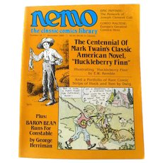 Nemo Classic Comics Library Vintage Magazine Huckleberry Finn Edition Number 16 December 1985 / Mark Twain / Classic Literature / Newspaper Comics
