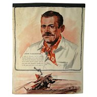 John Slaughter Western Themed Writing Tablet - Vintage Stationary - Writing Pad - Old West