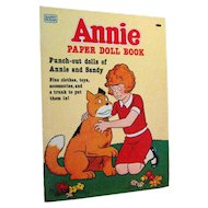 Annie Dolls Uncut by Whitman 1980s - Annie and Sandy Paper Dolls - Vintage Paper Dolls
