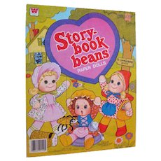 Story Book Beans Paper Dolls Uncut by Whitman 1980s - Vintage Paper Dolls